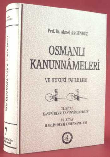 OSMANLI KANUNNAMELERİ - 7